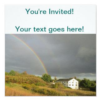 """Arco iris en New Hampshire Invitación 5.25"""" X 5.25"""""""