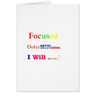 Arco iris enfocado de la determinación tarjeta de felicitación