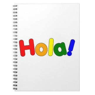 Arco iris español hola: Iris Hola de Espanol Libro De Apuntes Con Espiral