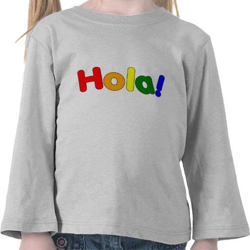 Arco iris español hola: Iris Hola de Espanol Camisetas