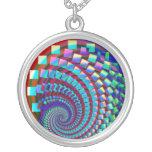 Arco iris espiral loco colgante personalizado
