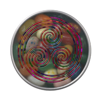 Arco iris espiral triple multi - bote del Belly de