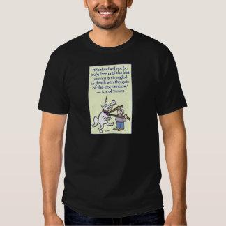 arco iris estrangulado unicornio pasado camisas