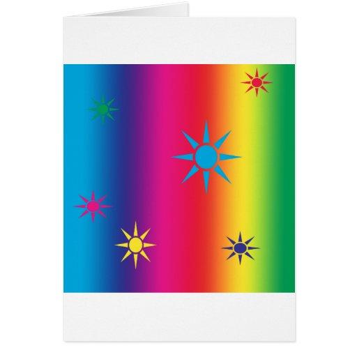 arco iris-estrella tarjetón