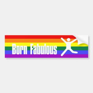Arco iris fabuloso nacido del orgullo gay pegatina para auto