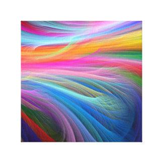 arco iris feather.png impresión en lienzo
