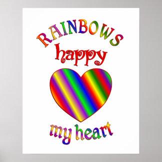 Arco iris felices mi corazón impresiones