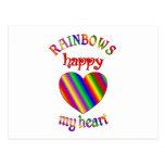 Arco iris felices mi corazón postales