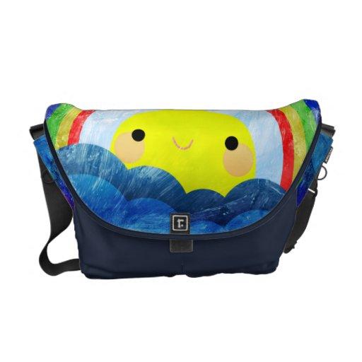 Arco iris feliz bolsas de mensajeria