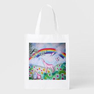 Arco iris feliz bolsas para la compra