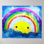 Arco iris feliz impresiones