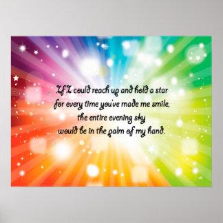 Arco iris feliz inspirado de la estrella de la cit impresiones