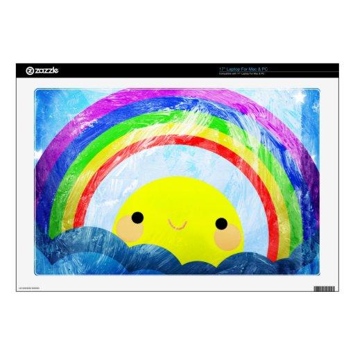 Arco iris feliz portátil calcomanía