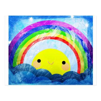 Arco iris feliz postales
