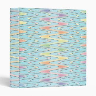 """Arco iris femenino lindo sobre zigzag del azul del carpeta 1"""""""