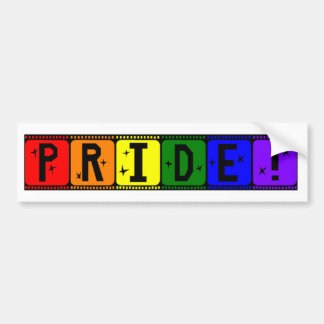 Arco iris Filmstrip del orgullo gay Pegatina Para Auto