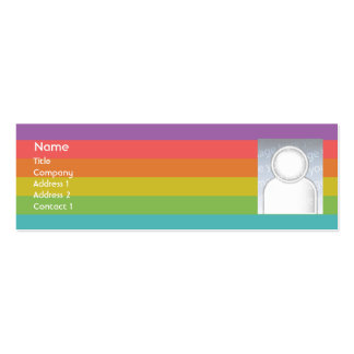 Arco iris - flaco tarjetas de visita mini