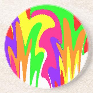 Arco iris floral posavasos diseño