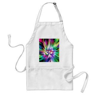 Arco iris floreciente Lotus OM Delantal