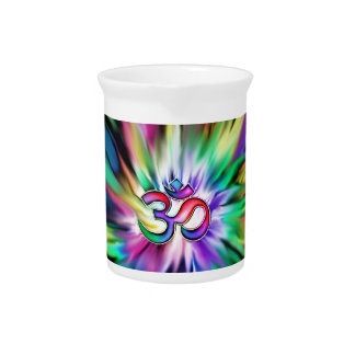 Arco iris floreciente Lotus OM Jarron