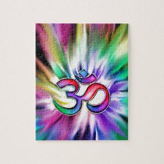 Arco iris floreciente Lotus OM Puzzle