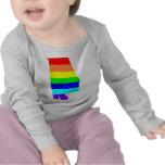 Arco iris gay Alabama Camisetas