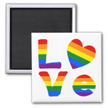 Arco iris gay del amor imán para frigorifico