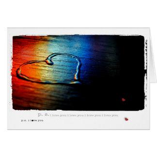 Arco iris gay del amor tarjeta de felicitación