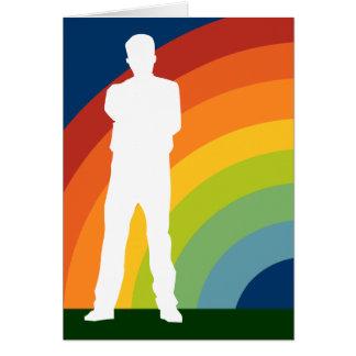 arco iris gay grande que viene hacia fuera invitac tarjeta