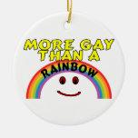 Arco iris gay ornamento para reyes magos