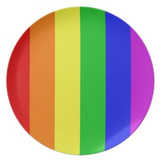Arco iris gay plato de comida