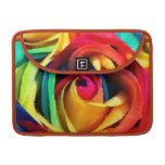 Arco iris geométrico artsy subió fundas para macbooks