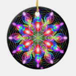 Arco iris girante de la felicidad del día de fiest ornamentos de navidad