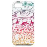 Arco iris gitano de la reina iPhone 5 protectores