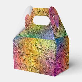 Arco iris grabado en relieve modelo cajas para regalos