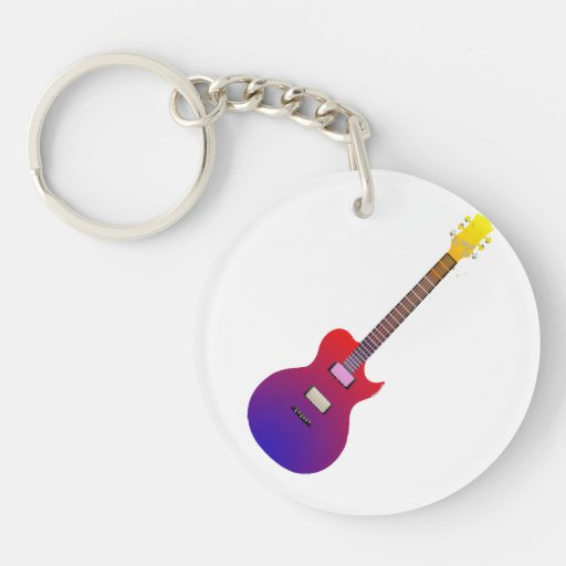 arco iris gradient.png de la guitarra eléctrica llavero