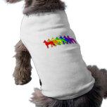 Arco iris great dane camiseta de perrito