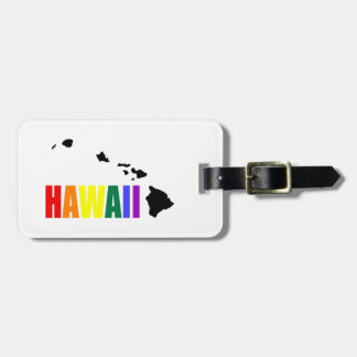 Arco iris hawaiano 2 etiquetas maletas