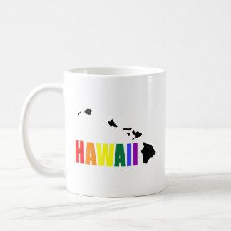 Arco iris hawaiano 2 taza básica blanca