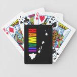 Arco iris hawaiano 3 cartas de juego