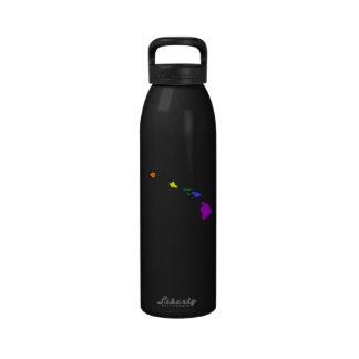 Arco iris hawaiano botella de agua reutilizable