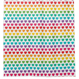 Arco iris hearts.jpg cortina de baño