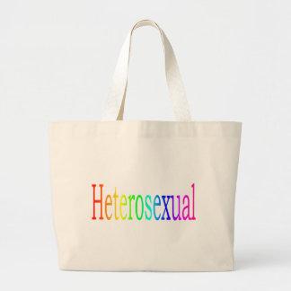 Arco iris heterosexual bolsas de mano