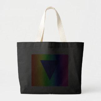 Arco iris heterosexual bolsa de mano