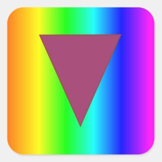 Arco iris heterosexual pegatina cuadrada