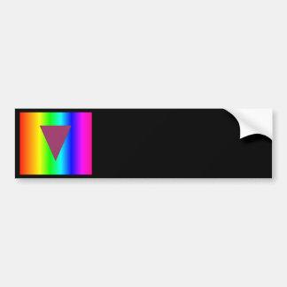 Arco iris heterosexual pegatina para auto