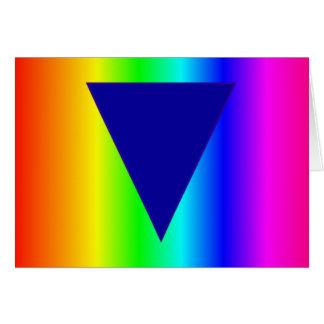 Arco iris heterosexual tarjeta de felicitación