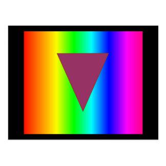 Arco iris heterosexual tarjetas postales