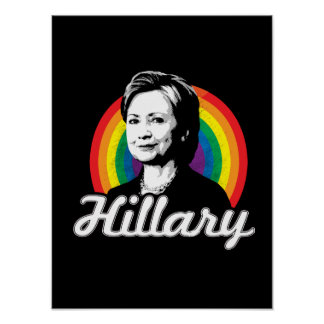 Arco iris Hillary - políticas de LGBT - Póster