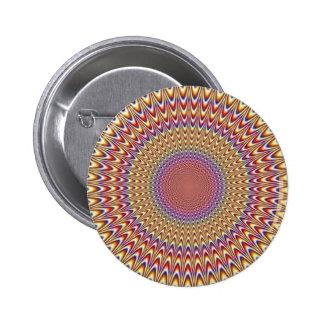Arco iris hipnótico del círculo de la ilusión ópti pin redondo 5 cm